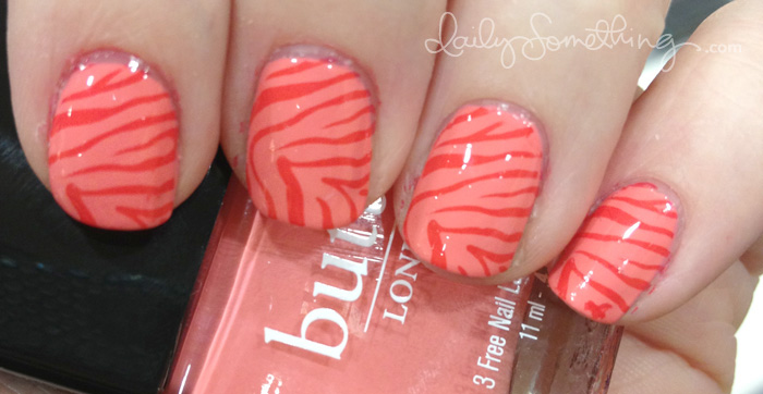 Coral Zebra Stamping