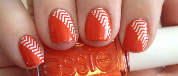 Orange Diagonal Chevron