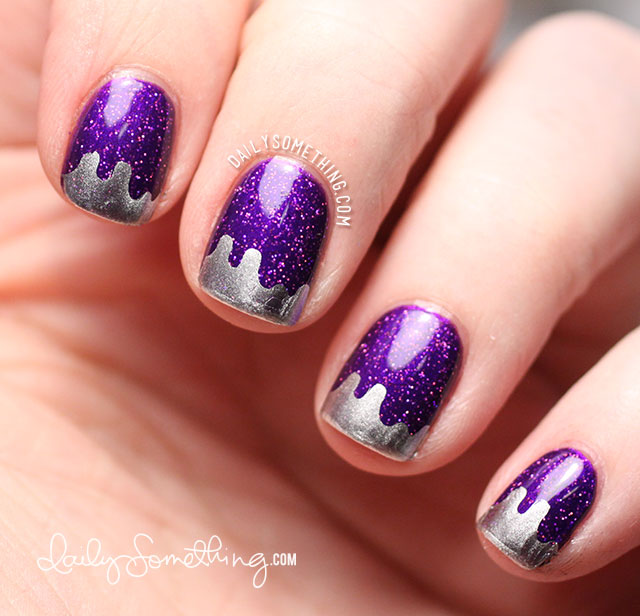 Purple Glitter with Winstonia W108 Silver Tips - Daily ...