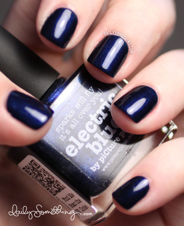 Picture Polish Electric Blue (and a bit of stamping) - Daily ...