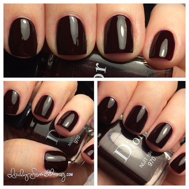 More of an autumn color, but I love a dark, vampy polish. :) Color is Nuit from Dior. #notd