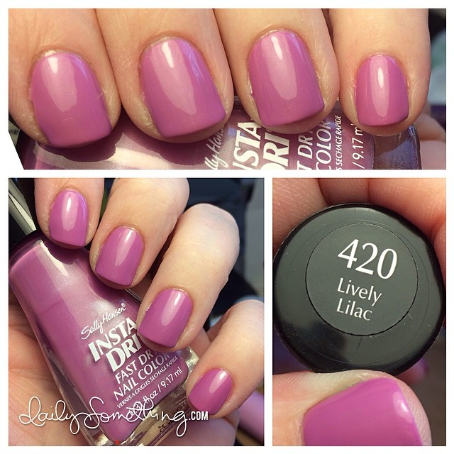 Normally, I use these polishes for stamping, but I was really feeling the lilac/orchid color. Sally Hansen Insta-Dri in Lively Lilac. #notd #nailpolish