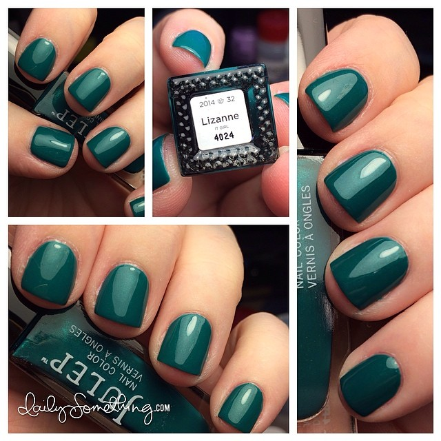 Sporting a perfect-for-st-patrick's-day nail polish color: Lizanne from Julep. More of a jewel toned green. Also loving my shorter nails. They were getting a bit too long for me so I had to file them down.