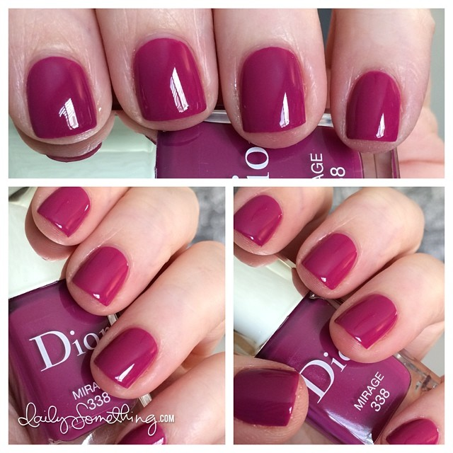Time for a polish change. Today's color is Mirage from Dior. It's an awesome berry color. :) #notd