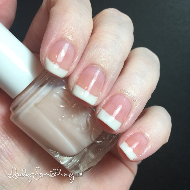 Polishes used: Essie Marshmallow and Essie Mademoiselle.