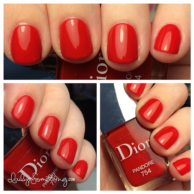 Dior Pandore. Such a pretty, bright red. :) #starofmaynails
