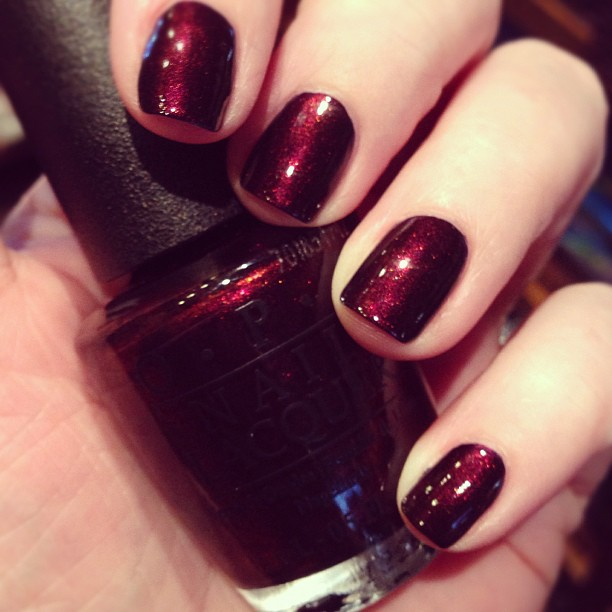 Hit the salon for manicures with @heidicrowl today. Color is OPI Every Month is Oktoberfest.