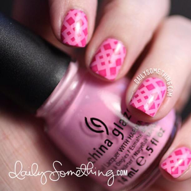 New stamping manicure at my nail blog at dailysomething.com