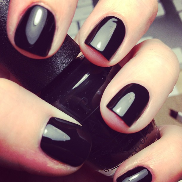 Some glossy black polish... Just - Daily SomethingDaily Something