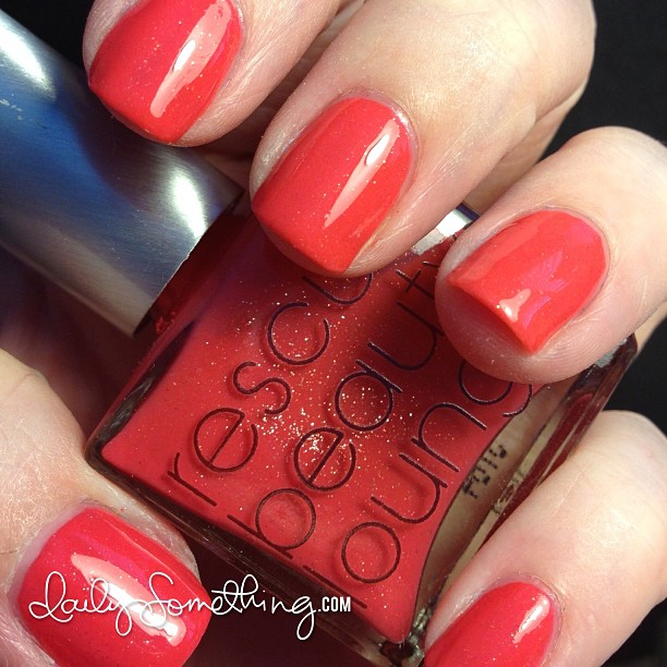 This photo doesn't show how pretty this polish is. Seriously. Color is RBL Kellie Gonzo. @rescuebeauty