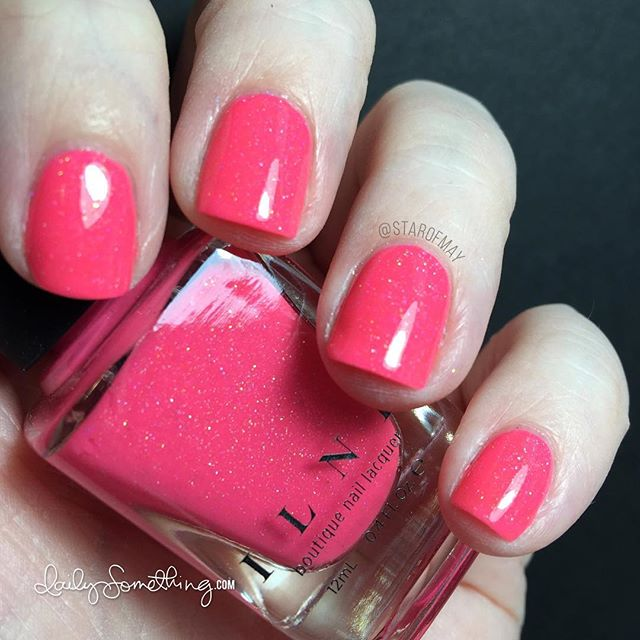 ILNP Summer Crush - Fluorescent hot pink with holo shimmer. So pretty! #starofmaynails #ilnpsummercrush